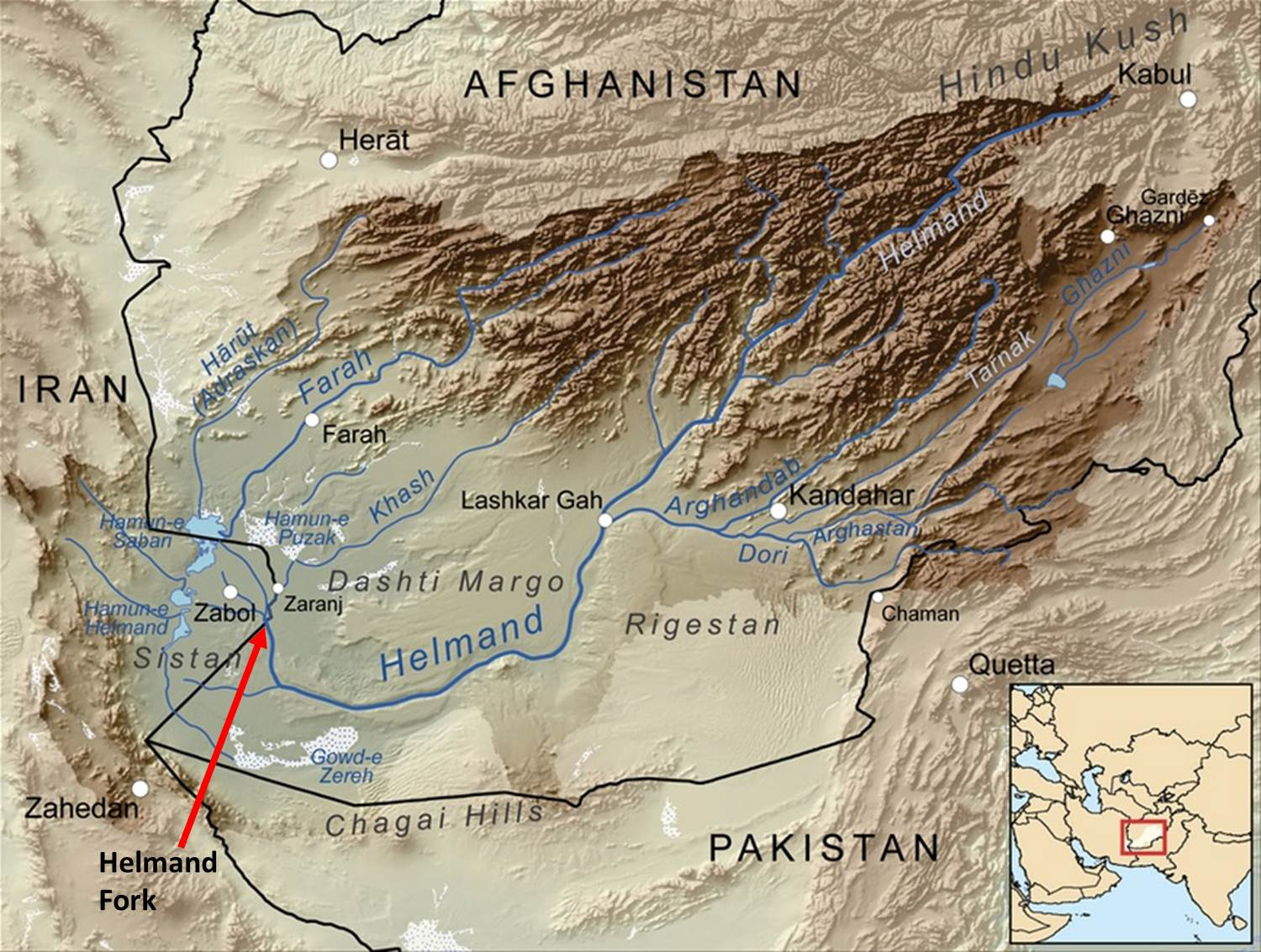 Helmand River Map
